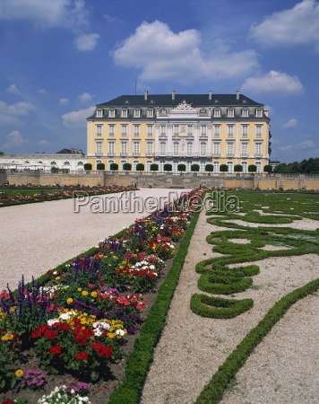 formal gardens and the augustusburg castle