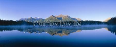 herbert lake and bow range banff