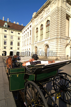 horse drawn carriage at the hofburg