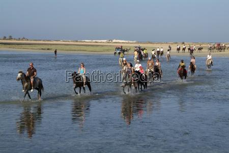 tourists riding horses near sidi garous