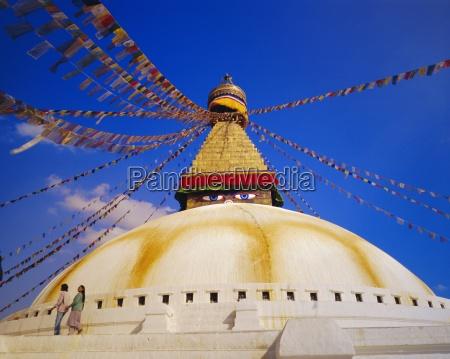 buddist stupa bodnath kathmandu nepal asia