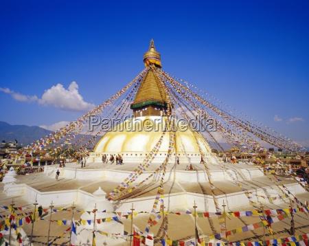 buddhist stupa bodnath katmandu nepal