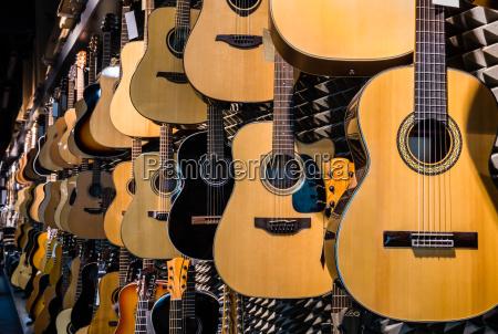 guitars in shop