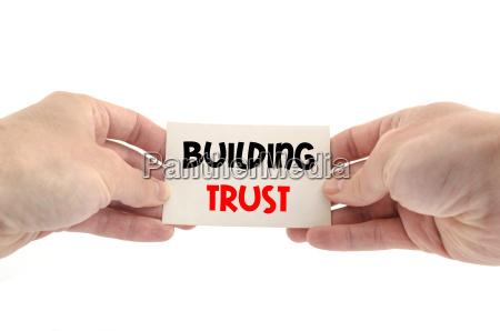 building trust text concept