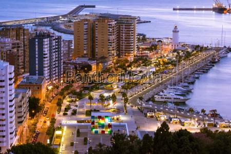 cityscape of malaga andalusia spain