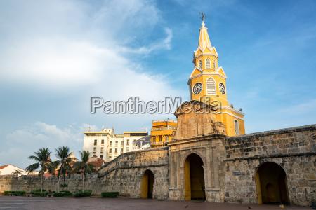 beautiful historic clock tower gate