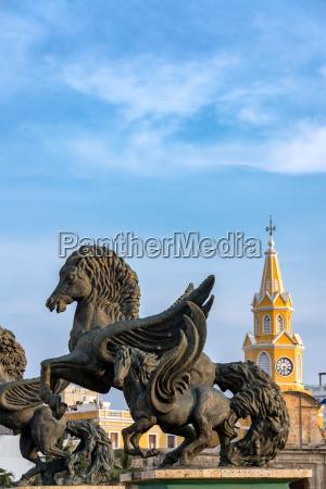 pegasus and clock tower gate