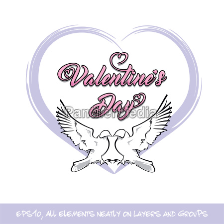 love birds valentine day purple heart