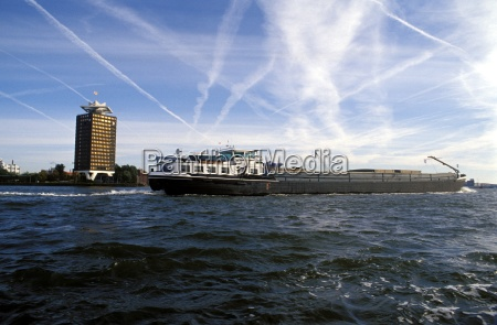 cargo boat on the river ij