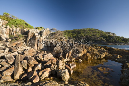mimosa rocks and rock pool in