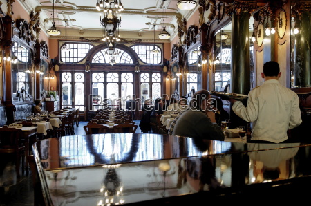 famous majestic cafe reminiscent of the