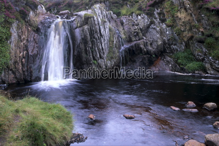 burn of lunklet waterfall north mainland