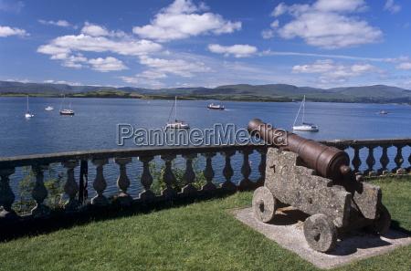 gun protecting bantry bay gardens of