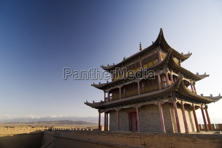 six hundred year old tower jiayuguan