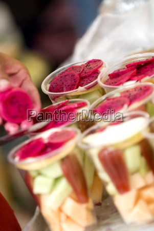fruit cups chatuchak weekend market bangkok