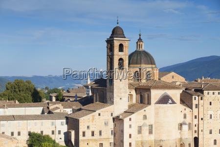 view of duomo cathedral urbino unesco