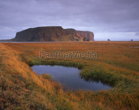 dyrholaey inselberg and cliffs southernmost point