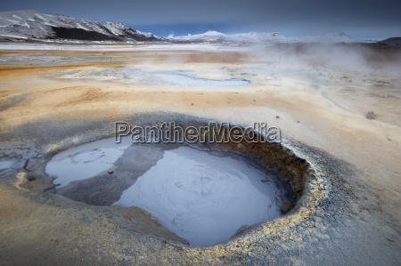 mudpots at namaskard geothermal area namafjall