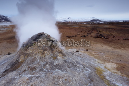 steam vent at namaskard geothermal area
