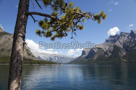 lake minnewanka banff national park unesco