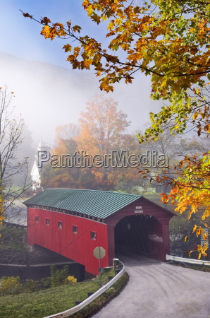 covered bridge at west arlington vermont