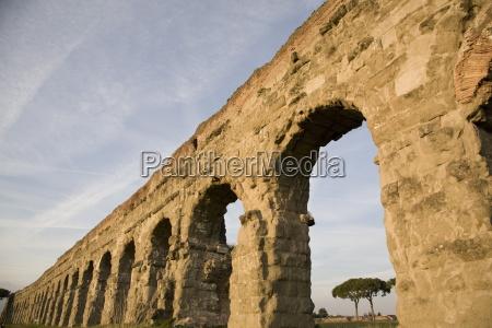 claudian aqueduct the appia road rome