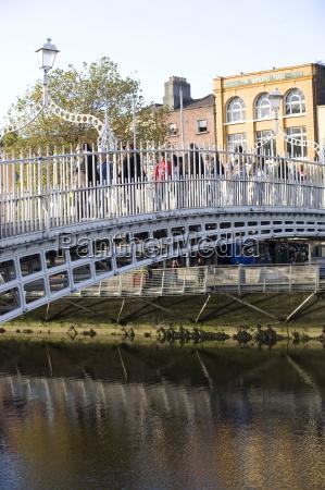 ha penny bridge on the liffey