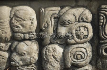 mayan glyphs in temple 22 copan