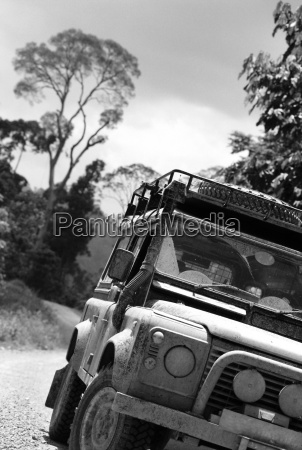 land rovers on safari