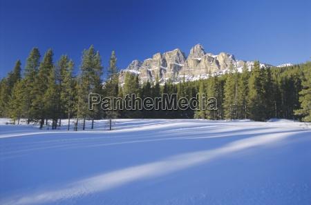 castle mountain rocky mountains alberta canada