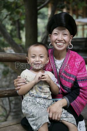 woman and child of yao minority