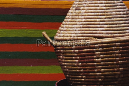 woven basketware bowl morocco north africa