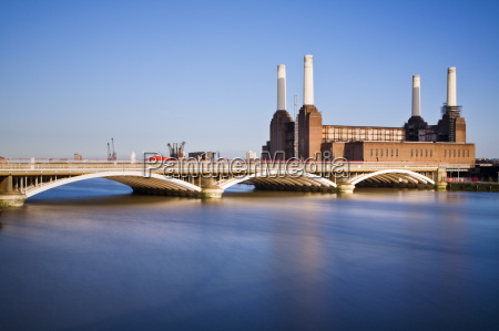 battersea power station across the river