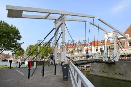bascule bridge draw bridge and houses