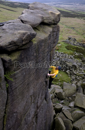 climber makes a solo ascent of