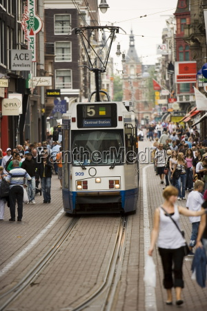 tram amsterdam holland the netherlands europe