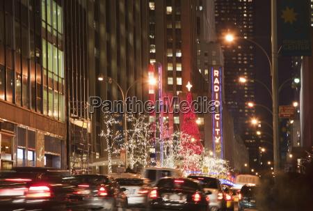 new york city at night new