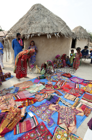 pathan village women showing their traditional