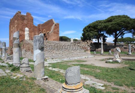 roman forum ostia antica rome lazio