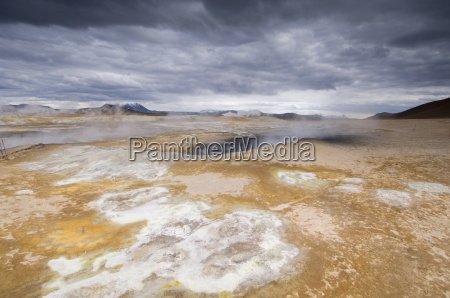 hverir geothermal fields at the foot