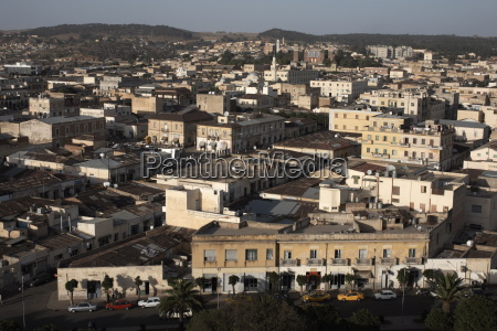 overlooking the capital city of asmara