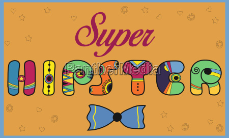 super hipster colorful vintage font