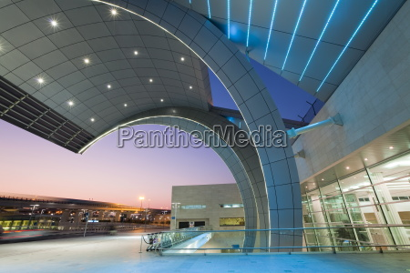 stylish modern architecture of terminal 3