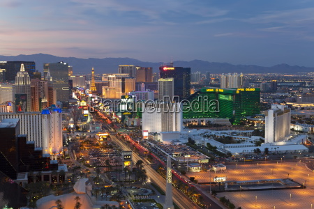 elevated view of the hotels and