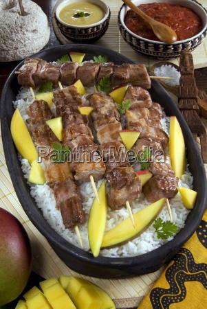 madagascan food mosakiki zebu skewers with