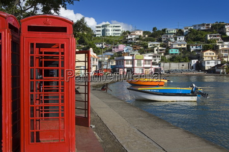 phone box in carenage harbour st