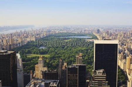 high angle view of central park