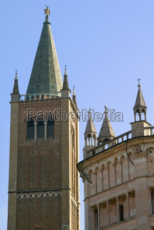 bell tower of the duomo parma