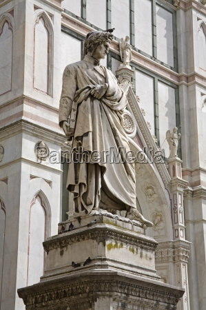 dantes statue piazza di santa croce