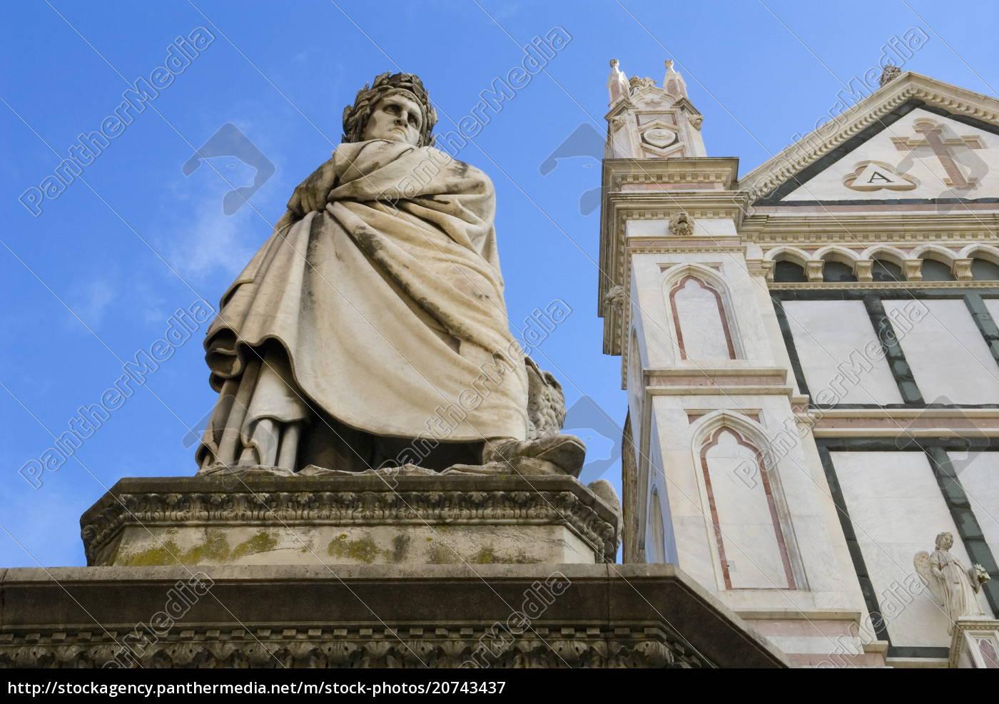 statue, of, dante, alighieri, , santa, croce, - 20743437